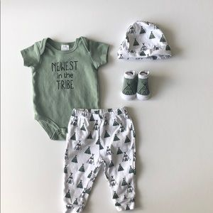New to the tribe baby outfit bundle